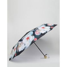 Ted Baker Compact Umbrella in Floral Print (550 NOK) ❤ liked on Polyvore featuring accessories, umbrellas, black, lightweight umbrella, floral print umbrella, floral umbrella, ted baker and ted baker umbrella