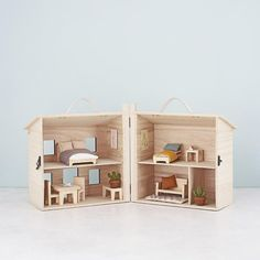 Olli Ella Holdie Toy House Children's Wooden Dolls House with Free Plush Teddy Wooden Dolls House Furniture, Timber Furniture, Ikea Furniture, Dollhouse Furniture, Living Room Furniture, Luxury Furniture, Automotive Furniture, Automotive Decor, Furniture Dolly
