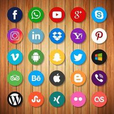 Social Media: The New Wave of Marketing Communications Social Media Logos, Social Networks, Social Media Marketing, Internet Marketing, Digital Marketing, Web Banner Design, Web Design, Design Ideas, Facebook Like Logo