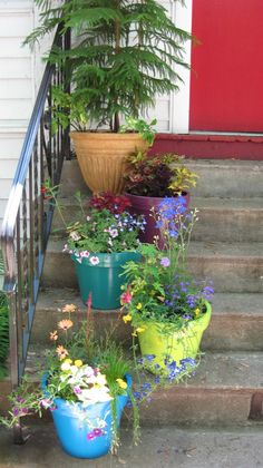 front porch container gardens | Front Porch Container Garden by 4 Seasons Painting & Landscaping
