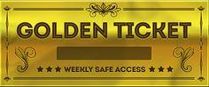 Het gaat over een gouden ticket, Sjakie is hiermee de chocolade fabriek in kunnen gaan.