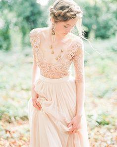 On Trend: 12 Bridal Separates - Breaking The Rules ❤ breaking the rules bridal separates lace rustic boho emily riggs #weddingforward #wedding #bride #weddingoutfit #bridaloutfit #weddinggown