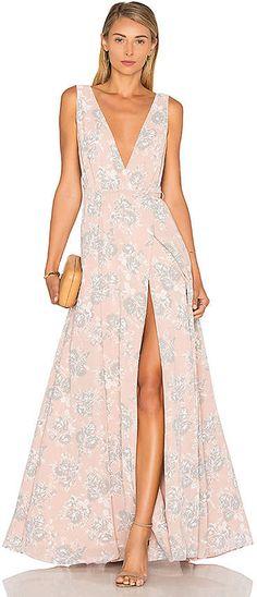 Lovers + Friends Leah Gown, #afflink ul pastel colours,#longdress  #afflink