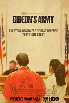 Gideon´s Army Fight agains injustice on HBO Documentaries. Clic for more info on the documentary.