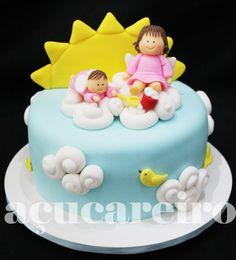 Bolo Batizado Menina cakepins.com
