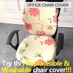 This Decorative Computer Office Chair Cover is made from soft, comfortable and wrinkle-resistant fabric that will protect your new seat from spills and stains.