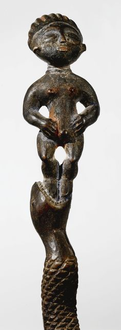AKAN STAFF WITH STANDING FEMALE FIGURE, GHANA   lot   Sotheby's