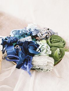 beautiful blue ribbon @weddingchicks