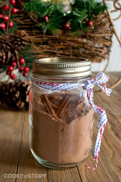 Best Hostess Gift Ideas, including the recipe for this Mexican Hot Chocolate Mix