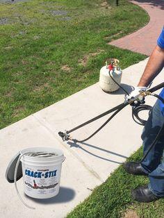 Our new CSX 1000 PRO MELT TORCH applies Crack Stix at walk behind pace! crackstix.com Home Repairs, Fixer Upper, Home Depot, Concrete, Driveway Ideas, Home Appliances, Gift Ideas, Amp, Christmas