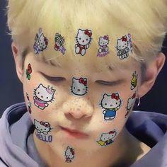 Kim Namjoon, Hoseok Bts, Jimin, Hello Kitty, Taehyung, K Pop, Vkook Memes, Cat Stickers, Light Of My Life