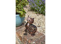 Chat solaire en métal - Jardin et Saisons