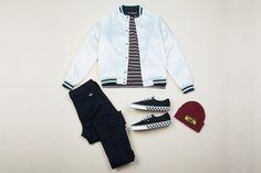 Dropkick Jacket Cream $129.95 | #generalpants #insight51 #dickies #dickiesaustralia #vans #stussy #stussytribeaustralia #mensflatlay