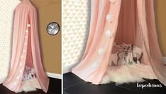 Pink cotton canopy Canopies, Curtains, Pink, Cotton, Home Decor, Blinds, Decoration Home, Room Decor, Draping