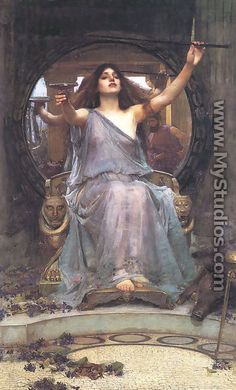 Circe Offering the Cup to Ulysses  1891 - John William Waterhouse