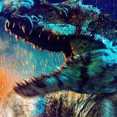 "Skinny Devil Lord 😈🍷 on Instagram: ""#jurassicworld #4k #indominusrex #raptorblue #bluetheraptor"" Jurassic World Dinosaurs, Jurassic Park World, Indominus Rex, Tyrannosaurus, Godzilla, Dinosaur Art, Prehistoric Animals, Wildlife, Main Street"