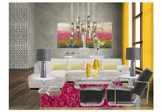 Check out this moodboard designed by Lisa Kegley@ lrk decor: Pink Lemonade