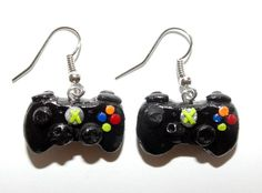 Gamer  Earrings by SplatterPalette on Etsy, $12.00