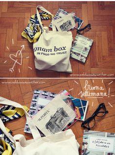 Gnam box!  http://zeldawasawriter.com/2013/03/ospite-di-gnam-box-oggi/