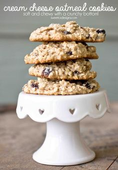Cream Cheese Oatmeal Raisin Cookies