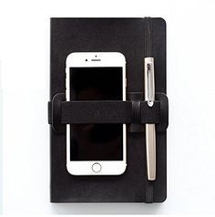 Pen and cellphone holder for notebook