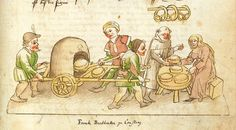 Medieval fastfood from a portable oven (from Richental-Chronik, Konstanz.) || Yes - they did it, and it worked! A documented reconstruction attended by Ärchäologisches Landesmuseum.