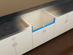 ▶ Kohler Kitchen Products -- Vault Apron Front Stainless Steel Sink Installation - YouTube