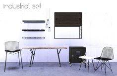 hvikis - Industrial set 1 ▪ MarcusSims91′s Eames DKR & DKW...