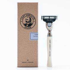 Captain Fawcett's Hand-Crafted Safety Razor is a classic interpretation of the original safety razor design, originally patented all the way back in 1847 by William S. Henson. Many are unaware that the safety razor as we know it was first designed back in the mid-Victorian era, with most people guessing that it was invented in the mid-20th century – a full 100 years later. Captain Fawcett's take on the design has a well-balanced 29 gram weight with a head that takes standard Gillette Mach 3…
