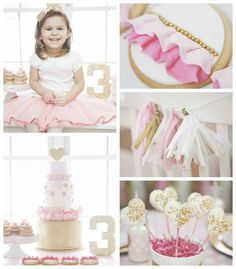 Smashcake & Co. is sharing this glittery pink & gold party on KarasPartyIdeas.com today!