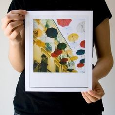 {umbrellas as rain} print of original Polaroid
