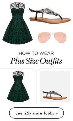 """""""Plus size"""" by wreckthisjournaltwins on Polyvore featuring Voodoo Vixen, Avenue and Ray-Ban"""