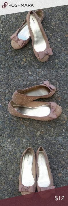 Cute flats size 7 Very cute, lightweight and super comfy flats by ALFANI in great condition. Only worn once. Color: tan Alfani Shoes Flats & Loafers