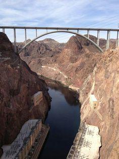 Hoover Dam Bridge, Hoover Dam, Colorado River,  Arizona/Nevada
