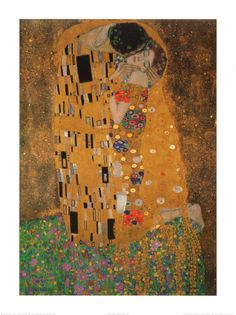 Klimt--The Kiss--we have this hanging in our room, over the fishtank. I would love to make an art quilt of this print.