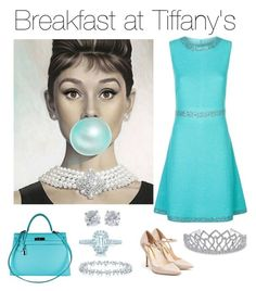 Breakfast at Tiffany's by chicpeacelove on Polyvore featuring polyvore, fashion, style, St. John, Rupert Sanderson, Hermès, Tiffany & Co., Bling Jewelry and clothing