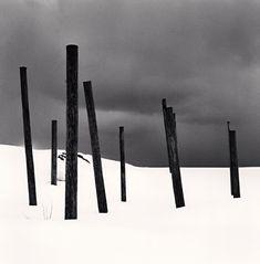 Micheal Kenna Seven Posts in Snow, Rumoi, Hokkaido, Japan 2004