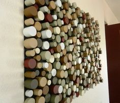 Try It Today: DIY, 3D Art Ideas for Bold, Textured Walls! This is definitely an undertaking of a DIY, but this Dowel wall art via Crazinessensues would certainly deliver some texture to your wall.