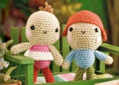 The first dolls - amigurumi