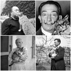 Ai Wei Wei, Dali, Picasso & Kandinsky are cat people.