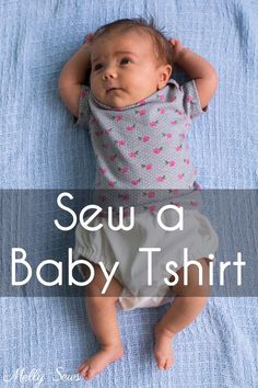 Sew a baby tshirt with this free pattern and video and picture tutorial. Envelope necklines are actually easy to sew, as you'll see.