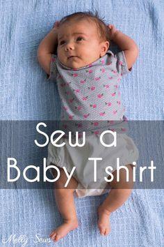 Baby t-shirt. Patroon, video en fotoinstructies. Engelstalig