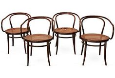Bentwood Dining Chairs, Set of 4