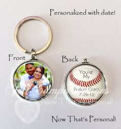 "Baseball You're my Perfect Catch, Baseball theme - ""You're my perfect catch"" - boyfriend, husband, groom by NowThatsPersonal on Etsy"