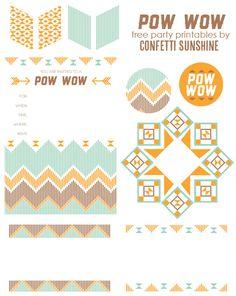 Confetti Sunshine: Pow Wow printables