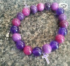 Religious Lavender Cross Charms B?a????t, Religious B?a??? ??a????t,C??ss Charms