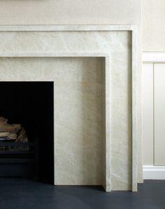 Clean - modern fireplace