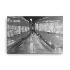 Image of London Buses - Black+White x Canvas by artist Deborah Kalavrezou London Bus, Buses, Black And White, Lifestyle, Canvas, Artist, Artwork, Painting, Accessories
