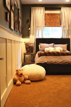 boys bedroom, love the walls