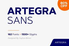 The concept behind the creation of Artegra Sans was simple: design one of the most comprehensive families in the world while maintaining the highest technical and aesthetic qualities throughout each included font. The resulting typeface is an astounding 162-font testament to the universally unifying nature of the written word.